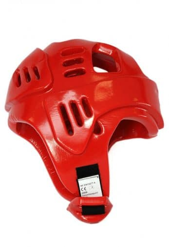 casque-karate-budo-fight-rouge-homologue-ffkarate-profil