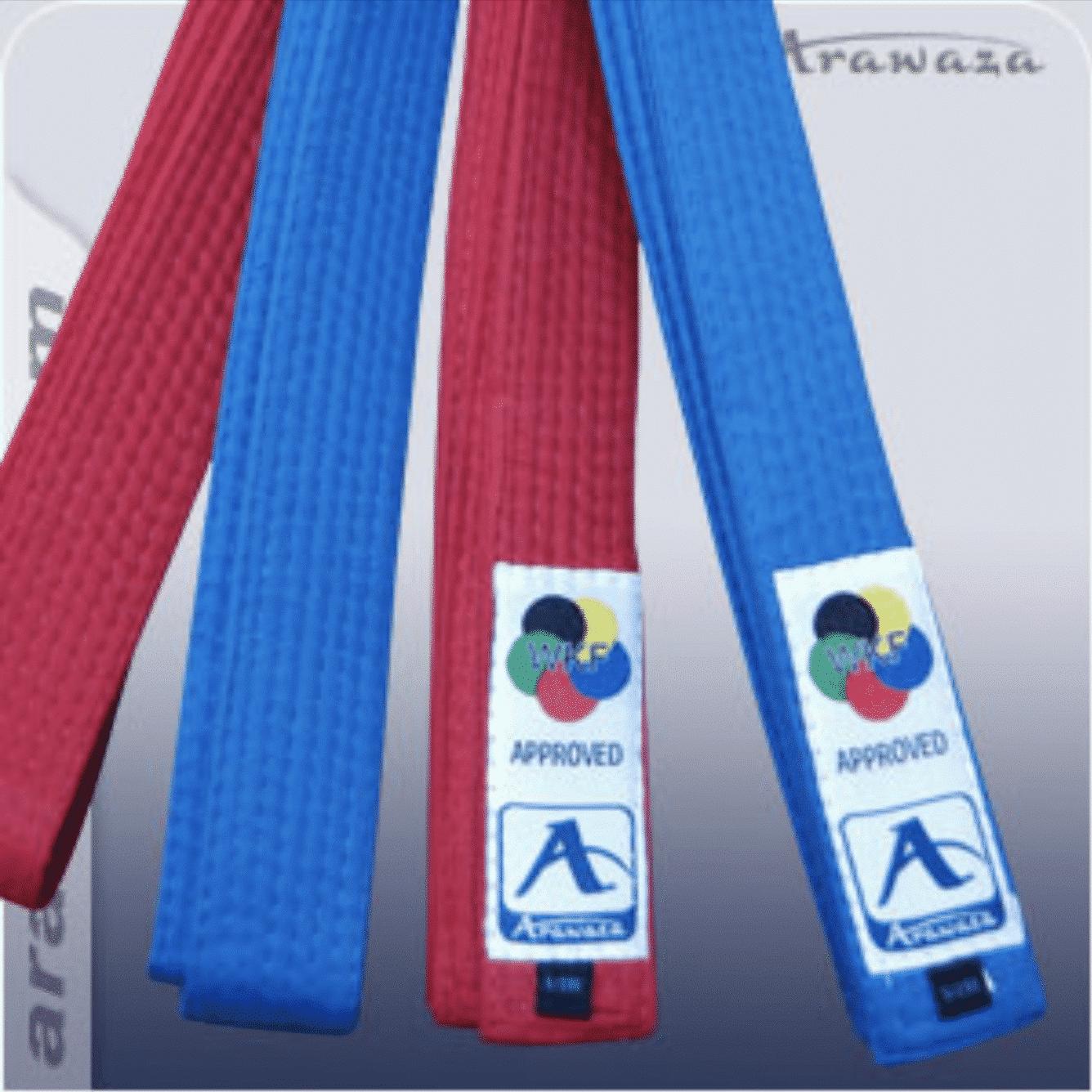 d183e728ed1d Ceinture de compétition de Karate ARAWAZA - Rouge ou Bleue - Kumité ...