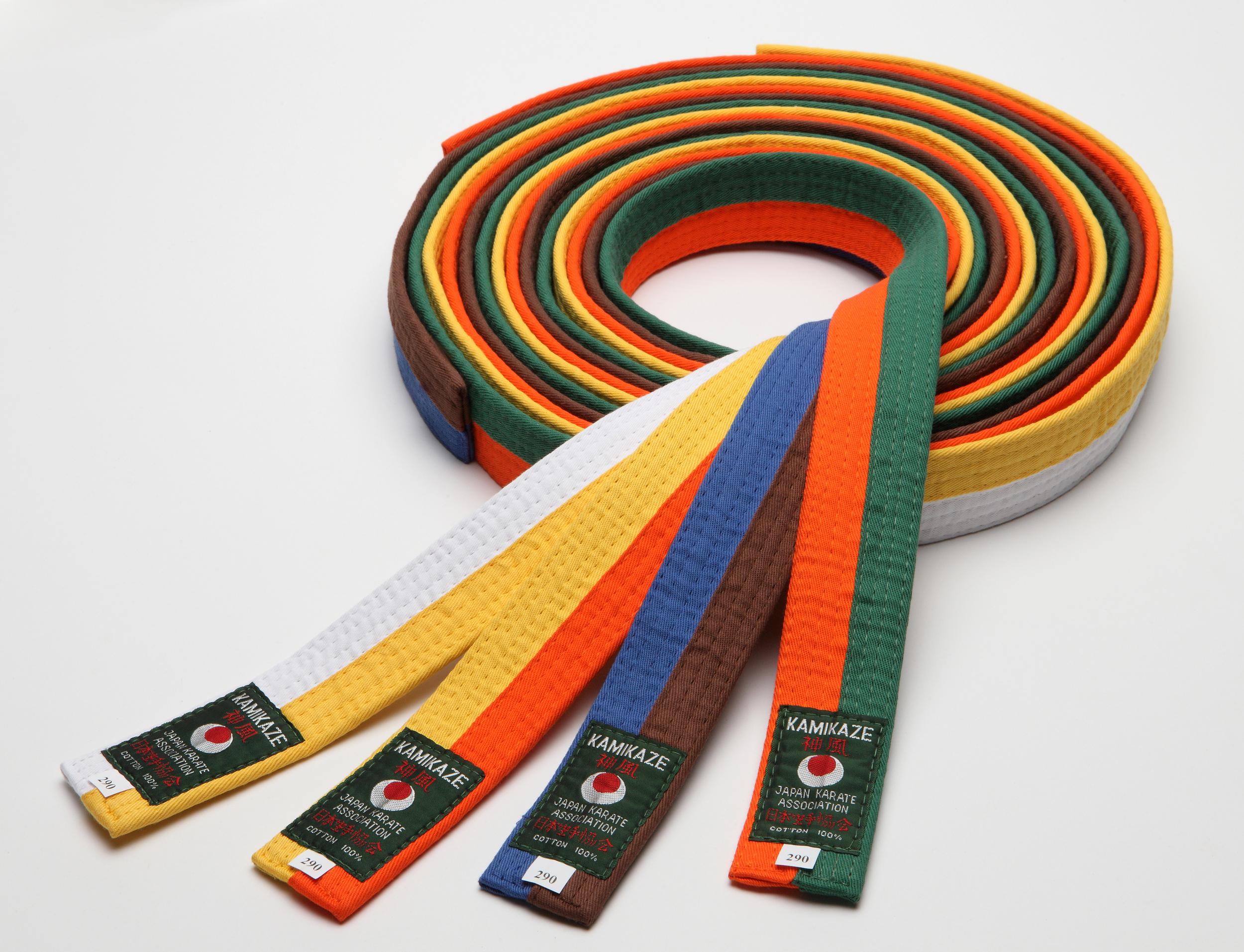 1193d5aa8be4 Ceinture de Karate bicolore KAMIKAZE Coton piqué   En vente sur ...