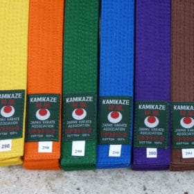Ceintures de couleur Karate