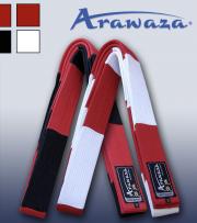 ceinture-karate-master-rouge-blanche-ou-rouge-noire-arawaza