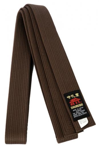 ceinture-marron-de-karate-shureido-extra-large
