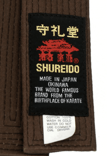 ceinture-marron-de-karate-shureido-extra-large-etiquette