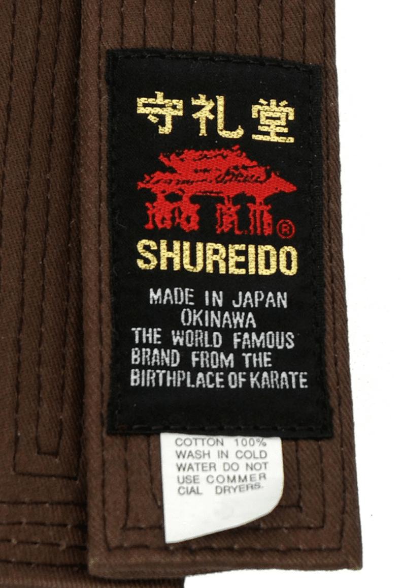 Ceinture Marron de Karate SHUREIDO