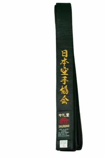 ceinture-noire-de-karate-shureido-satin-brodee-jka-or-340