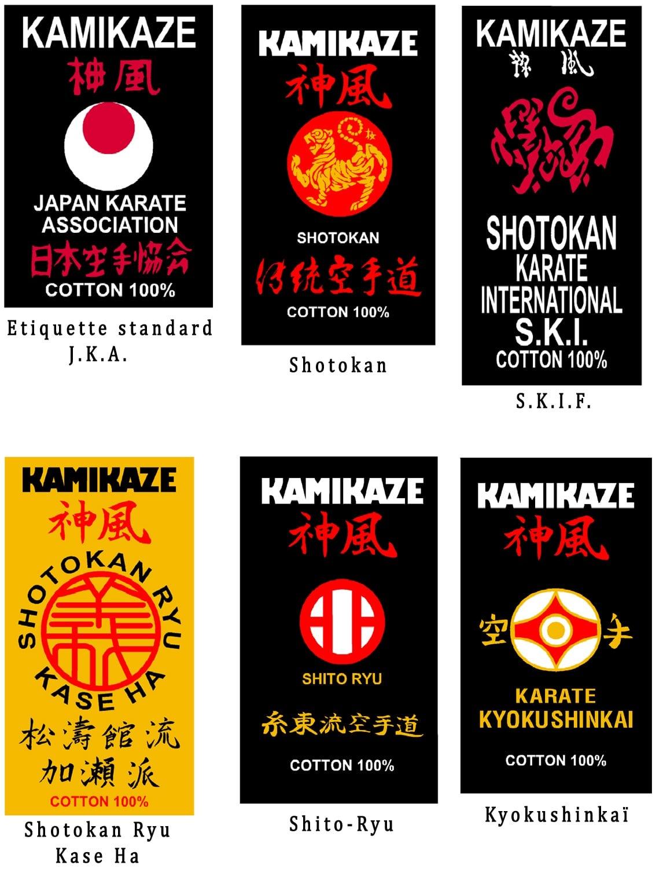 Ceinture Noire de Karate KAMIKAZE Satin qualité supérieure   En ... b74b2bee3e3