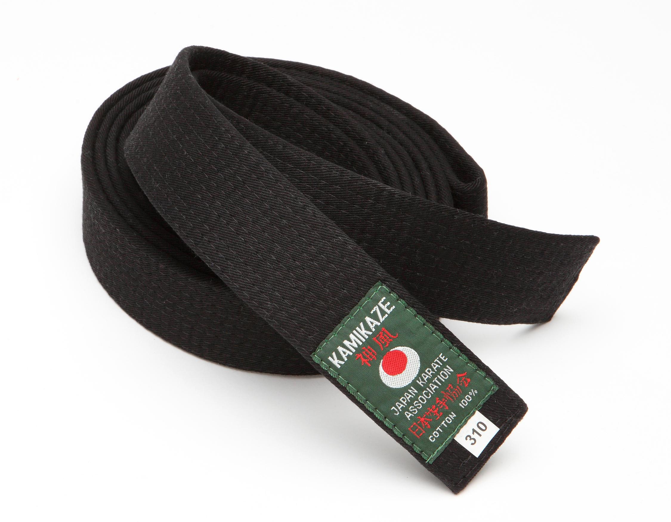 ce9a5b09453 Ceinture noire de Karate économique KAMIKAZE Coton piqué