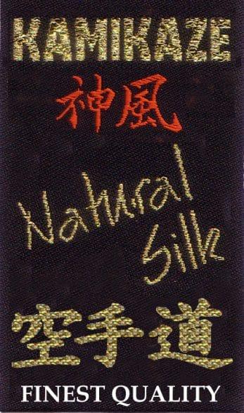 ceinture-noire-karate-kamikaze-soie-naturelle-etiquette