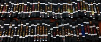 ceinture-noire-karate-shureido-coton-satin-broderies