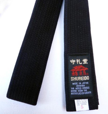 ceinture-noire-shureido-extra-large-coton-etiquette