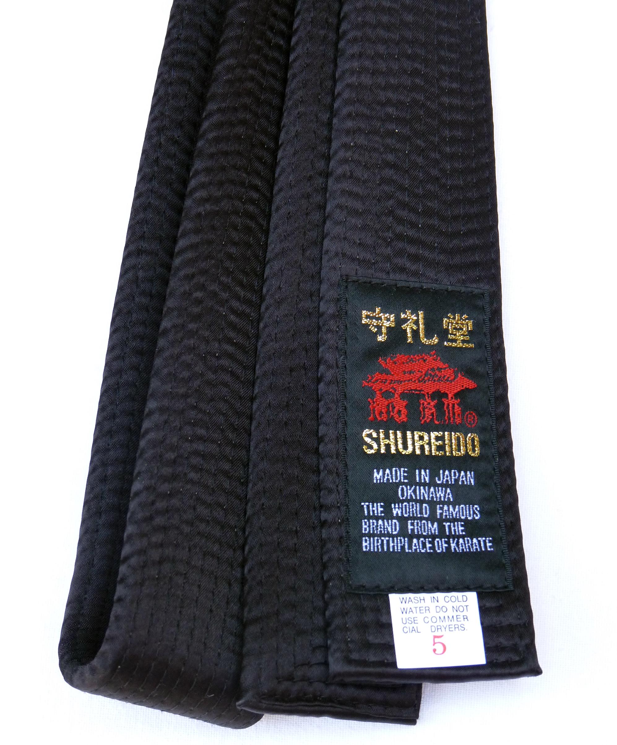 a7dcf8a94b9b Ceinture Noire de Karate SHUREIDO Coton ou Soie-Satin - Extra Large ...