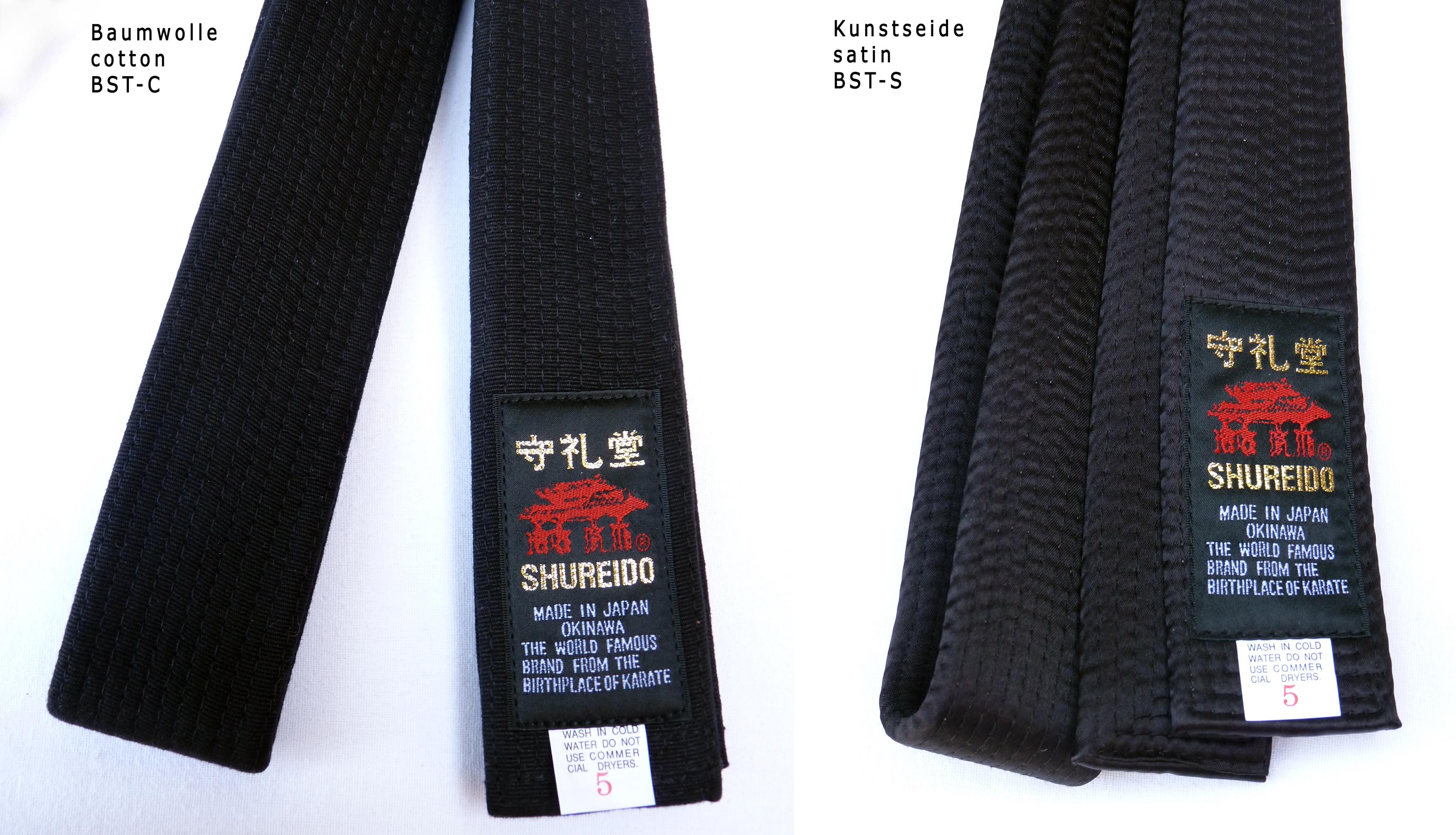Ceinture Noire de Karate SHUREIDO Coton ou Soie-Satin - Extra Large ... 7288dc4f58d