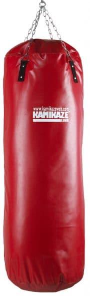 equipement-karate-sac-de-frappe-rouge-pvc-kamikaze