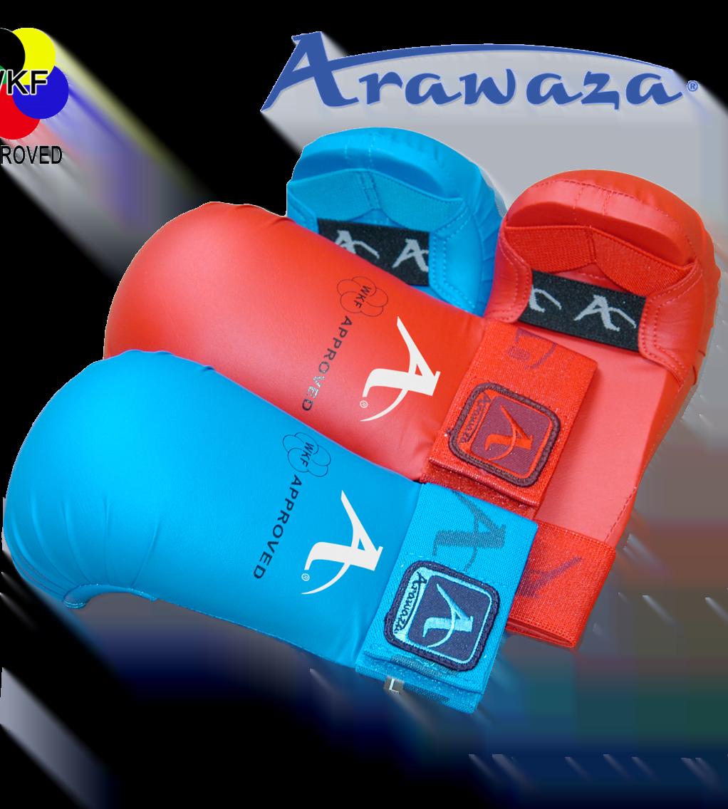 Gants de Karate ARAWAZA bleu ou rouge WKF