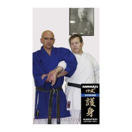 kimono-karate-gi-kamikaze-goshin-veste-bleue-clef-bras
