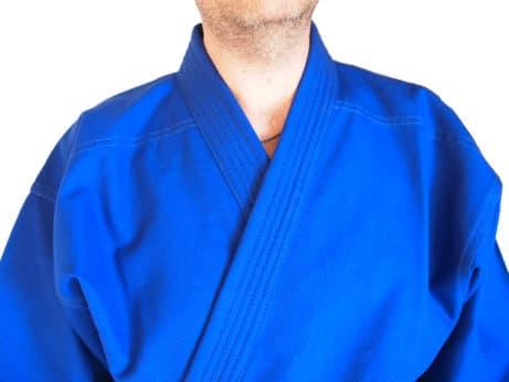 kimono-karate-gi-kamikaze-goshin-veste-bleue-col-renforcé