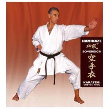 kimono-karate-gi-kamikaze-soreveign-zenkutsu-dachi-tate-shuto+etiquette-marron