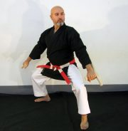 kimono-karate-gi-kobudo-noir-kamikaze-kokutsu-dachi-tonfa