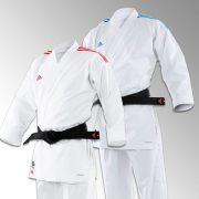 kimono-karate-gi-kumite-revoflex-adidas-bandes-rouge-bleu-premiere-league-k190sksmu