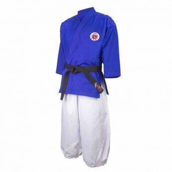 kimono-karate-gi-nanbudo-officiel-fujimae-veste-bleue-pantalon-blanc