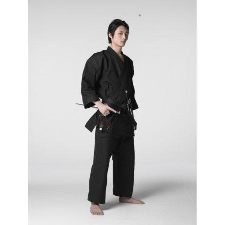 kimono-karate-gi-shureido-noir-profil