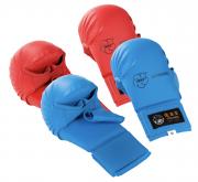 mitaines-gants-karate-tokaido-wkf-avec-pouce-rouge-bleu