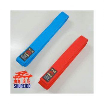 pack-2-ceintures-shureido-kata-rouge-bleu-wkf-coton