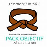 Vous voulez obtenir votre ceinture Marron de Karate ? Ce Pack Objectif Karate3G™ est spécialement conçu pour vous faire progresser rapidement vers votre ceinture Marron de Karate :