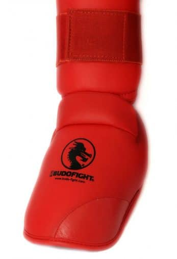 protege-pied-et-tibia-karate-detachable-pu-budo-fight-rouge-zoom-pied