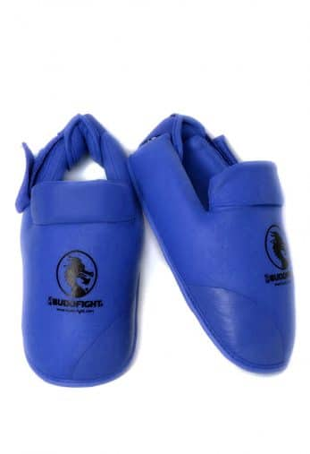 protege-pied-karate-detachable-pu-budo-fight-bleu