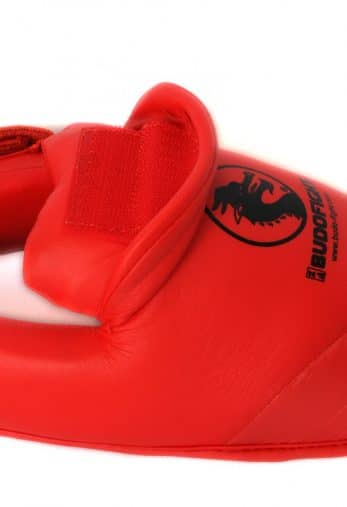 protege-pied-karate-detachable-pu-budo-fight-rouge-attache-velcro-pour-protege-tibia