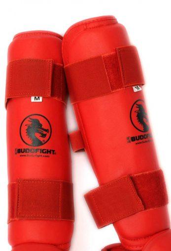 protege-tibia-detachable-pu-budo-fight-rouge-2