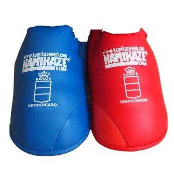 proteges-pied-karate-bleu-rouge-kamikaze