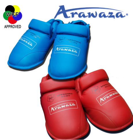 proteges-pieds-karate-arawaza-rouge-ou-bleu-wkf-approved