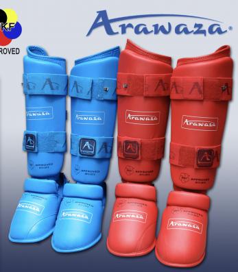 proteges-tibias-et-pieds-karate-arawaza-rouge-ou-bleu-wkf-approved