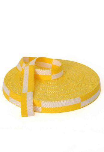rouleau-ceinture-karate-blanche-jaune-karate-gi
